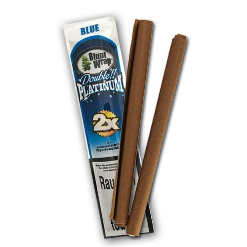 Blunt Wrap Double Platinum Blue, 2er