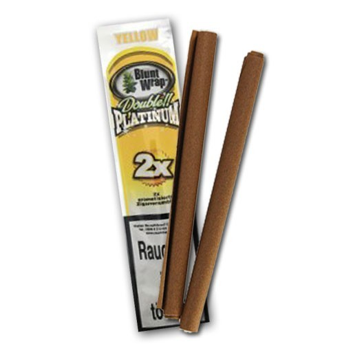 Blunt Wrap Double Platinum Yellow, 2er